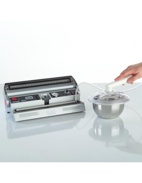 Zamykanie naczynia przy użyciu pakowarki próżniowej LAVA